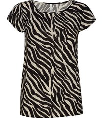sc-anabel t-shirts & tops short-sleeved multi/mönstrad soyaconcept