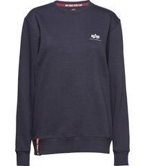 basic sweater small logo sweat-shirt tröja blå alpha industries
