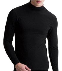 incerun hombres super soft high cuello camisetas ajustadas