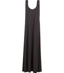 calzedonia maxi dress woman brown size m