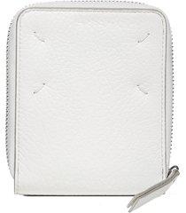 maison margiela logo zip around leather medium wallet