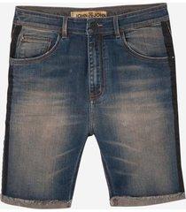 bermuda john john rock panama 3d jeans azul masculina (generico, 50)