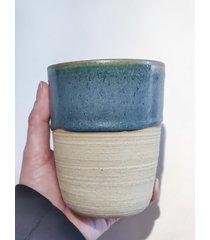 ceramiczny kubek stone green 400 ml