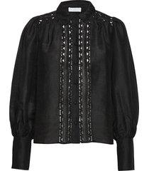 2nd ciara overhemd met lange mouwen zwart 2ndday