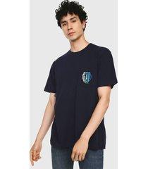 camiseta azul -multicolor gap