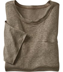 linnen shirt met korte mouwen, kwarts xl
