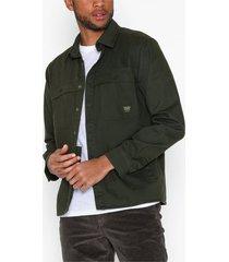 only & sons onsgavin ls twill workwear overshir t-shirts & linnen mörk grön
