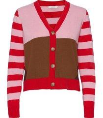 charlie cardigan stickad tröja cardigan röd nué notes