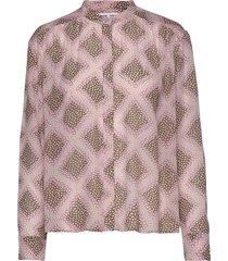 elmy shirt aop 9695 blus långärmad rosa samsøe samsøe