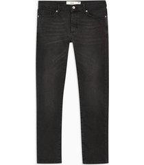 mens washed black stretch slim jeans