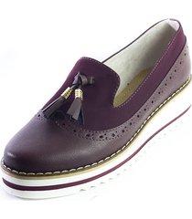 zapato vinotinto ballerinas elisa