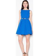 sukienka rozkloszowana mini kobaltowa