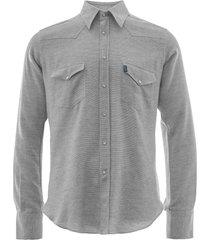 c17 jeans cedixsept atonie western shirt | light grey | c17wst-27