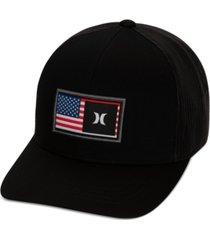 hurley men's destination curved trucker hat