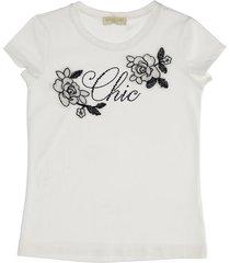 monnalisa chich print cotton jersey t-shirt