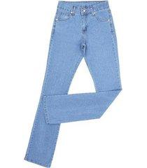 calça jeans dock's delavê com elástano feminina