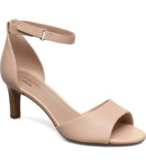 alice greta sandal med klack beige clarks