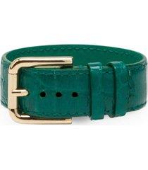 dolce & gabbana buckle-fastening bracelet - green