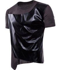 camiseta casual de manga corta tops hombre para hombres de high street