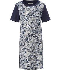 jurk zeer gedetailleerde bloemimpressies van oui blauw
