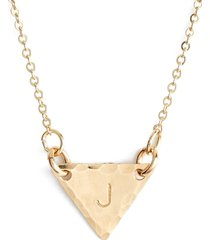 nashelle 14k-gold fill initial triangle necklace in 14k gold fill j at nordstrom