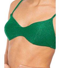 emerald green lurex top bralette