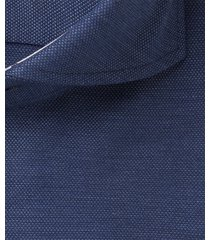 michaelis heren overhemd navy oxford slim fit ml7