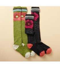 flower splash knee-hi socks, set of 2
