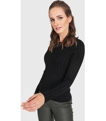sweater privilege negro - calce ajustado