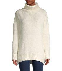philosophy women's oversized turtleneck sweater - ivory - size m