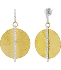 lush diamond circle drop earrings