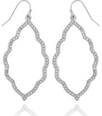 t tahari women's moroccan pave drop earring