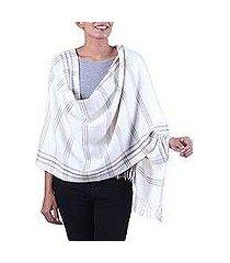 wool blend shawl, 'himalayan beauty' (india)