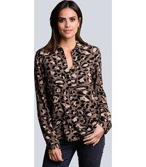 blouse alba moda bruin::beige