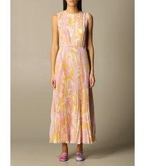 emilio pucci dress emilio pucci midi dress in pleated silk