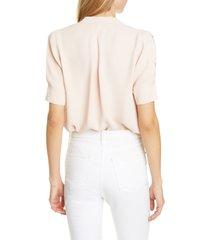 women's joie ance v-neck silk blouse, size medium - pink