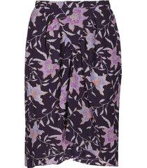 isabel marant étoile purple viscose skirt