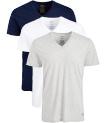 polo ralph lauren men's 3-pk. cotton v-neck undershirts
