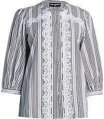 embellished striped blouse