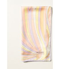 emilio pucci neck scarf emilio pucci abstract patterned scarf