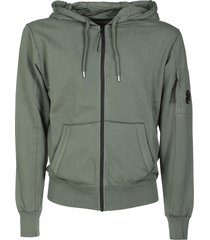 c.p. company light fleece zip hoodie