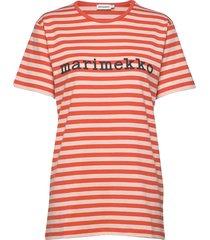 logo lyhythiha t-shirt t-shirts & tops short-sleeved rood marimekko