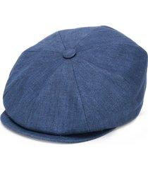 brunello cucinelli textured wide brim hat - blue
