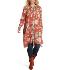 jessica simpson trendy plus size lori high-low duster shirt