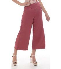 pantalon para mujer en twill rojo