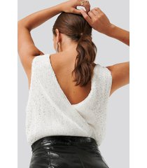 na-kd party sequin body - white