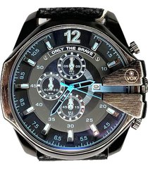 reloj análogo  negro vox