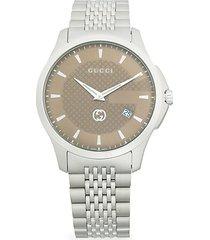 126 lg stainless steel bracelet watch
