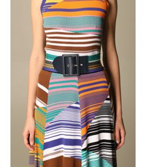 missoni belt missoni belt in striped wool blend and leather
