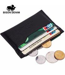 genuine leather card case mens front pocket card holder purse slim wallet men mi